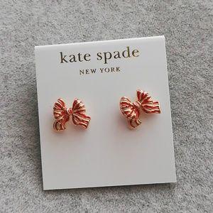 Kate spade enamel bow small studs earrings